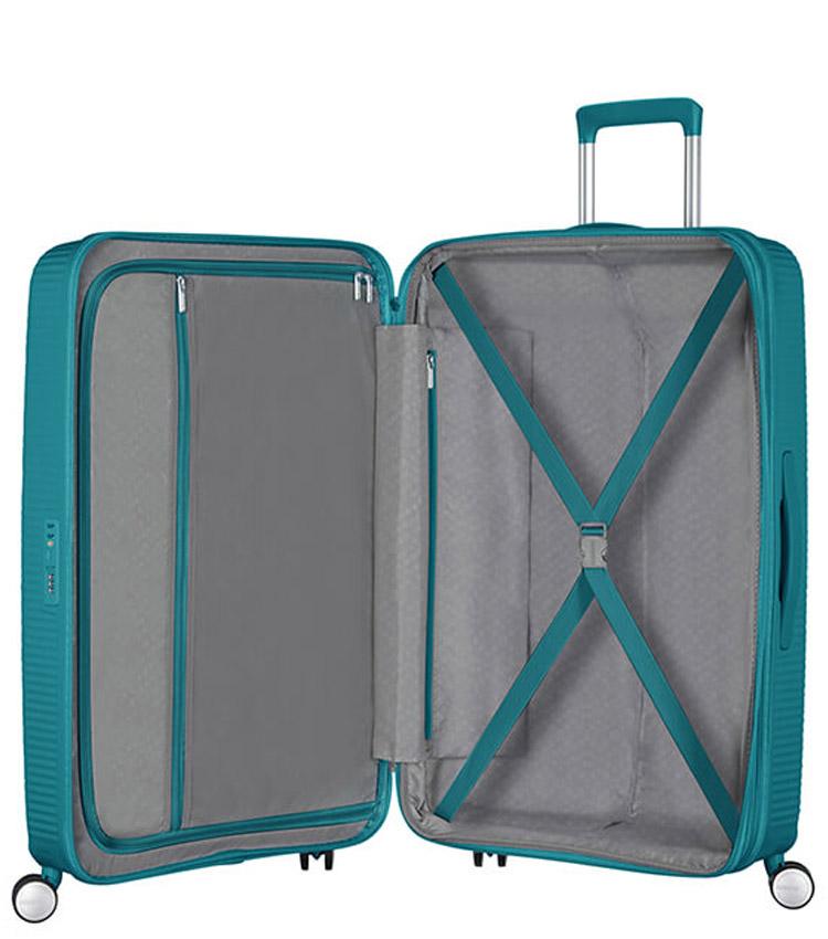 Средний чемодан American Tourister Soundbox Spinner Expandable 32G*14002 (67 см) Jade Green