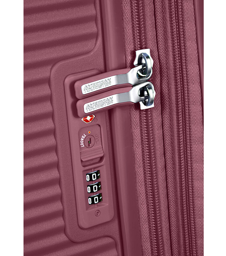 Средний чемодан American Tourister Soundbox 32G*40002 (67 см) Dark Burgundy