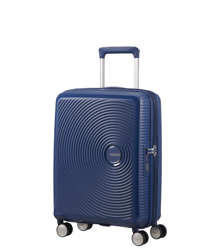 Малый чемодан American Tourister Soundbox Spinner Expandable 32G*41001 (55 см) Midnight Navy ~ручная кладь~
