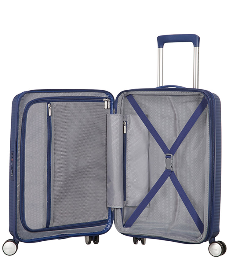 Малый чемодан American Tourister Soundbox Spinner Expandable 32G*41001 (55 см) Midnight Navy ~ручная кладь~