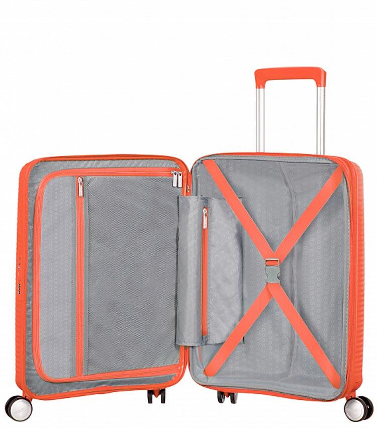 Малый чемодан American Tourister 32G*66001 Soundbox Spinner (55 см) ~ручная кладь~