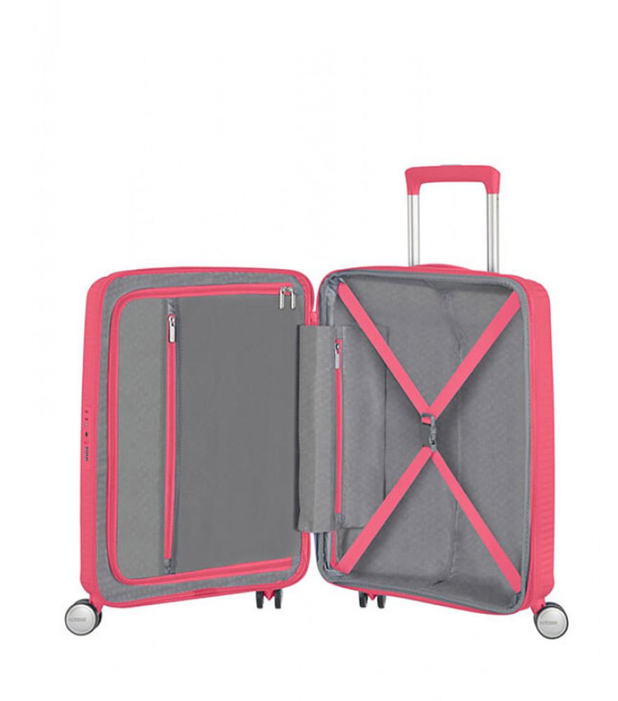 Малый чемодан American Tourister 32G*70001 Soundbox Spinner (55 см) ~ручная кладь~