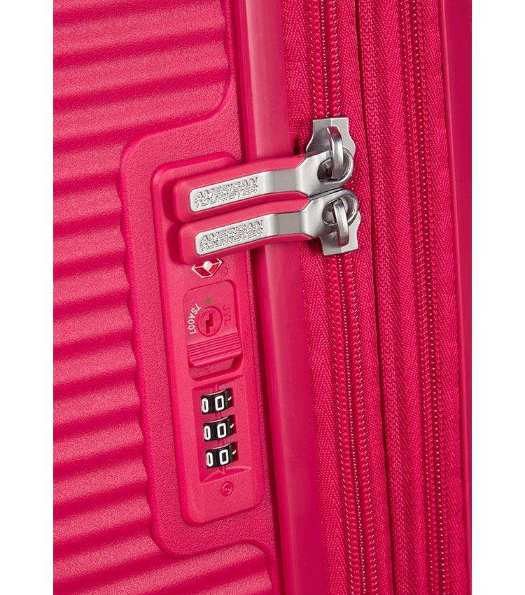 Малый чемодан American Tourister 32G*90001 Soundbox Spinner (55 см) ~ручная кладь~