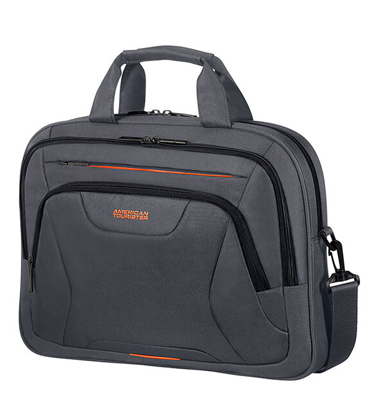Сумка для ноутбука American Tourister AT WORK 15.6 33G*28005 - Grey/Orange