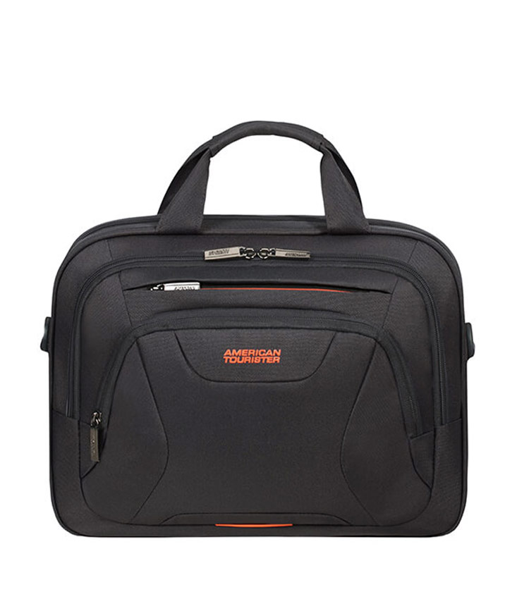 Сумка для ноутбука American Tourister AT WORK Aktentasche 14 33G*39004 - Black/Orange