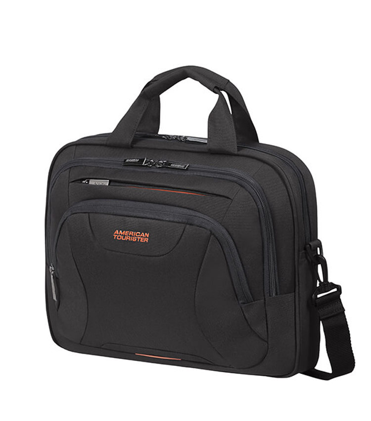 Сумка для ноутбука American Tourister AT WORK Aktentasche 14 33G*39004 - 	Black/Orange