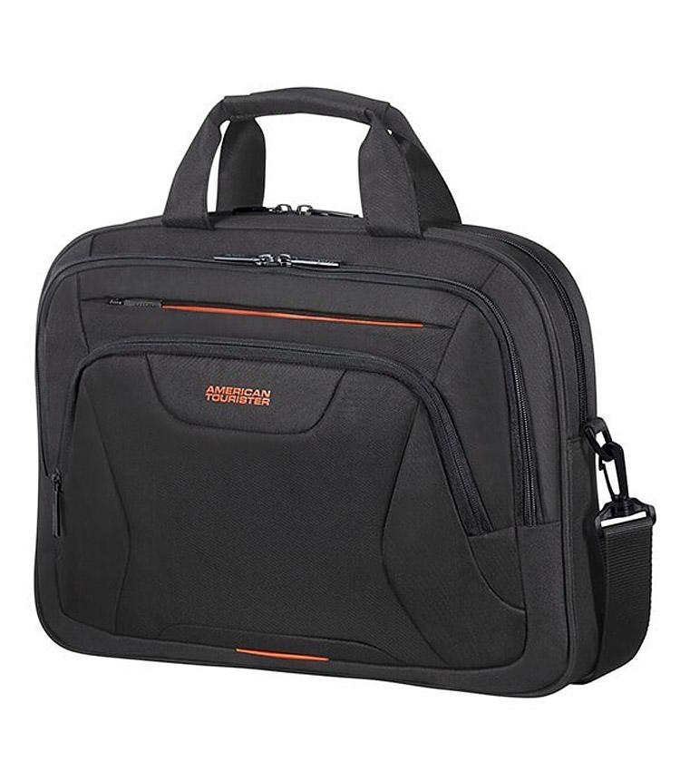 Сумка для ноутбука American Tourister AT WORK Aktentasche 15.6 33G*39005 - Black/Orange