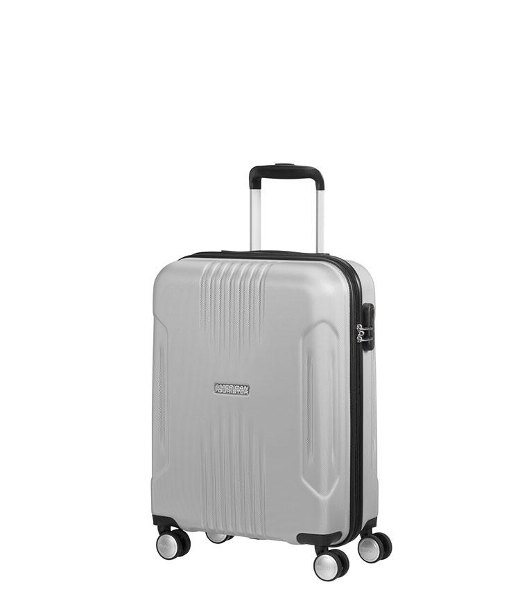 Малый чемодан American Tourister Tracklite 34G*25001 (55 см) Silver ~ручная кладь~