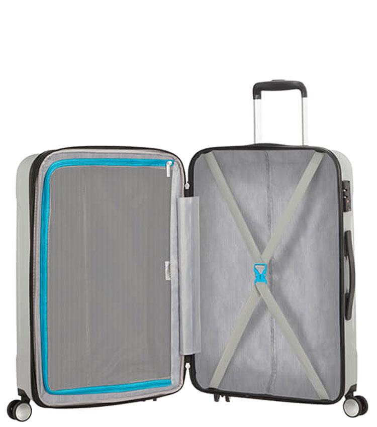 Средний чемодан American Tourister Tracklite 34G*25002 (67 см) Silver