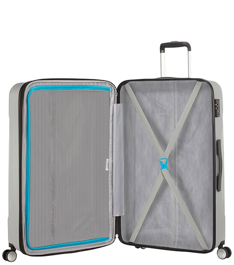 Большой чемодан American Tourister Tracklite 34G*25003 (78 см) Silver