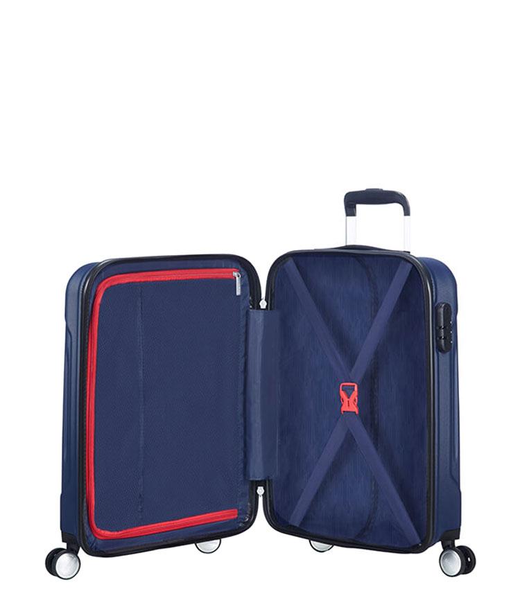 Малый чемодан American Tourister Tracklite 34G*51001 (55 см) Dark Navy ~ручная кладь~