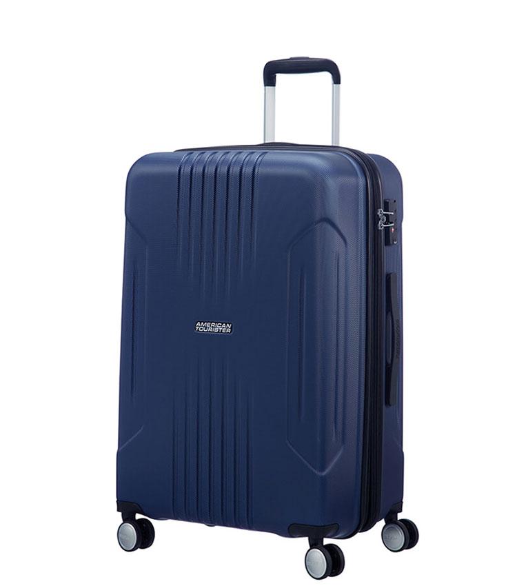 Средний чемодан American Tourister Tracklite 34G*51002 (67 см) Dark Navy