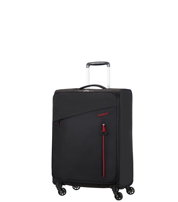 Малый чемодан American Tourister Litewing 38G*09002 - Volcanic Black ~ручная кладь~