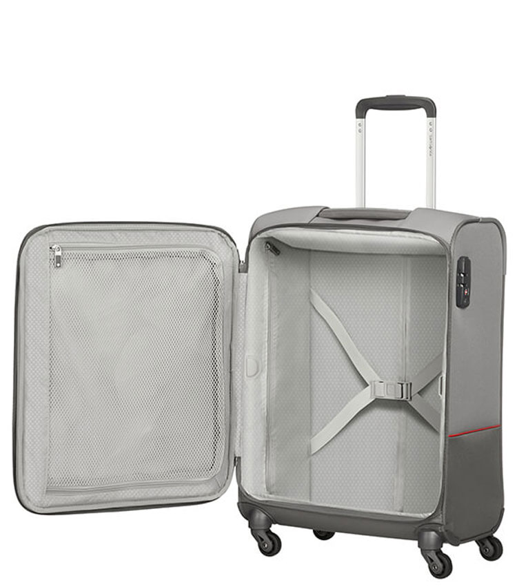 Малый чемодан Samsonite Base Boost 38N*08003 (55 см) ~ручная кладь~ Grey