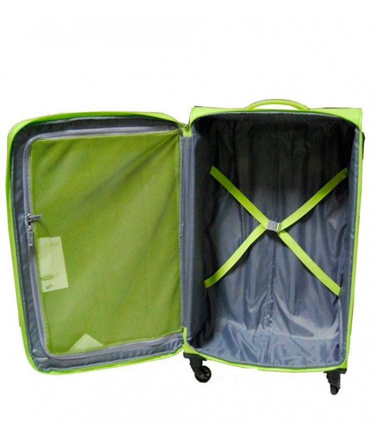 Большой чемодан-спиннер American Tourister Rally 39G*74 909 sunny lime