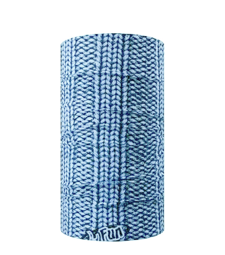 Шарф-труба 4Fun Chusta standart 3 columns sweater blue