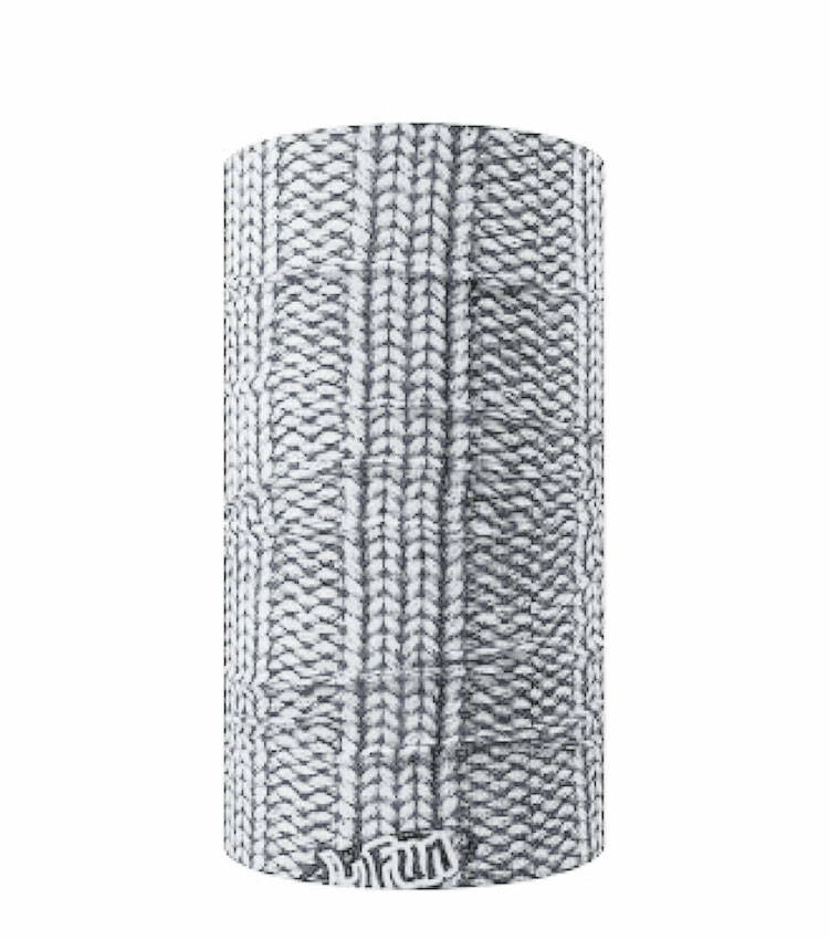 Шарф-труба 4Fun Chusta standart 3 columns sweater grey