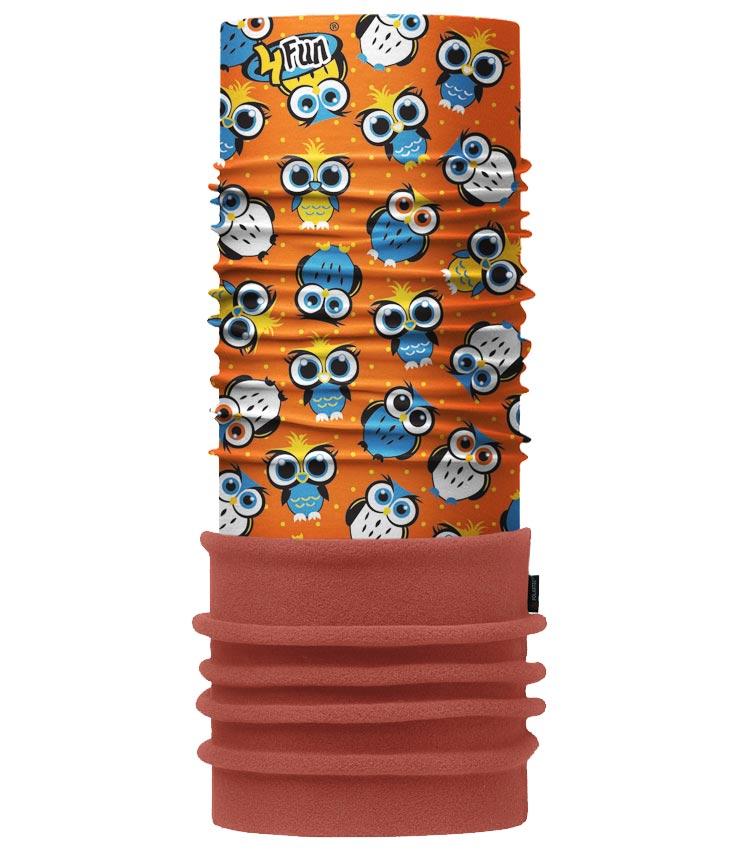 Шарф-труба 4Fun Polartec Kids owl orange