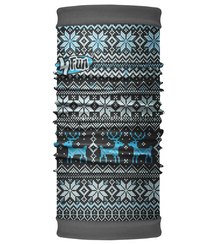 Шарф-труба 4Fun Polartec Reversible deer blue