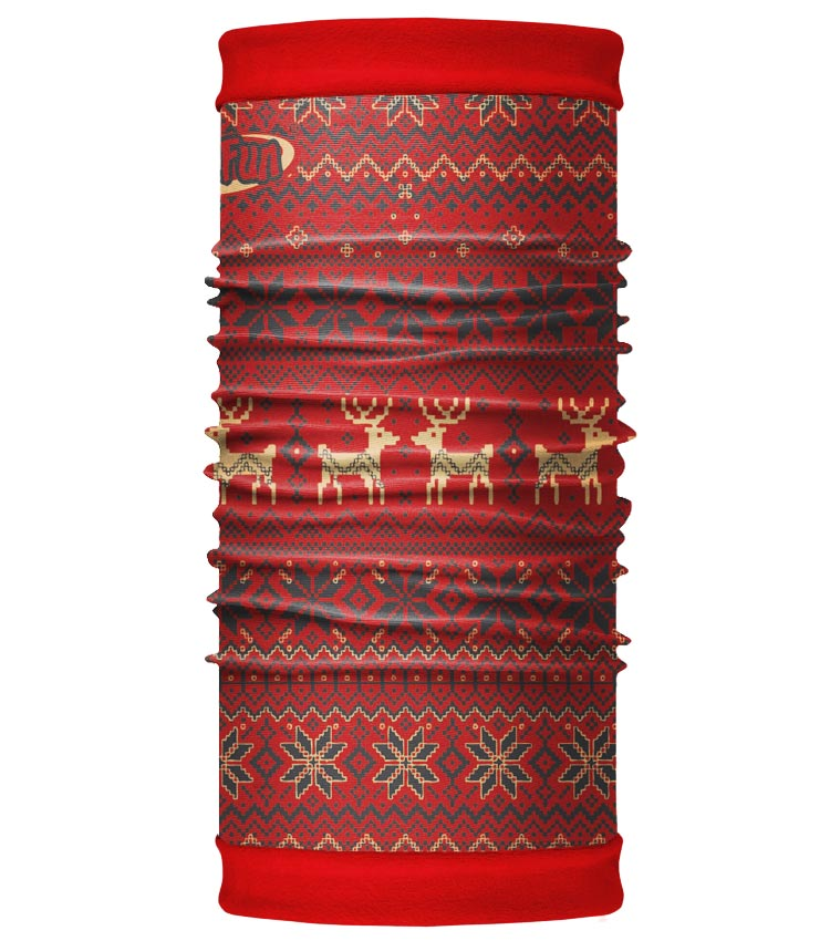 Шарф-труба 4Fun Polartec Reversible deer red