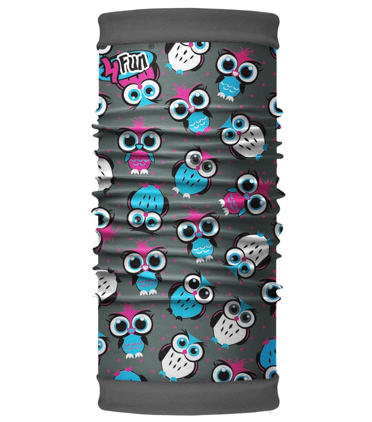 Шарф-труба 4Fun Polartec Kids owl grey