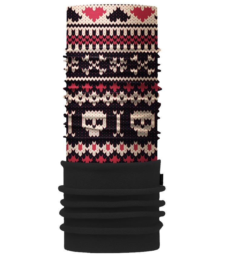 Шарф-труба 4Fun Polartec skull red