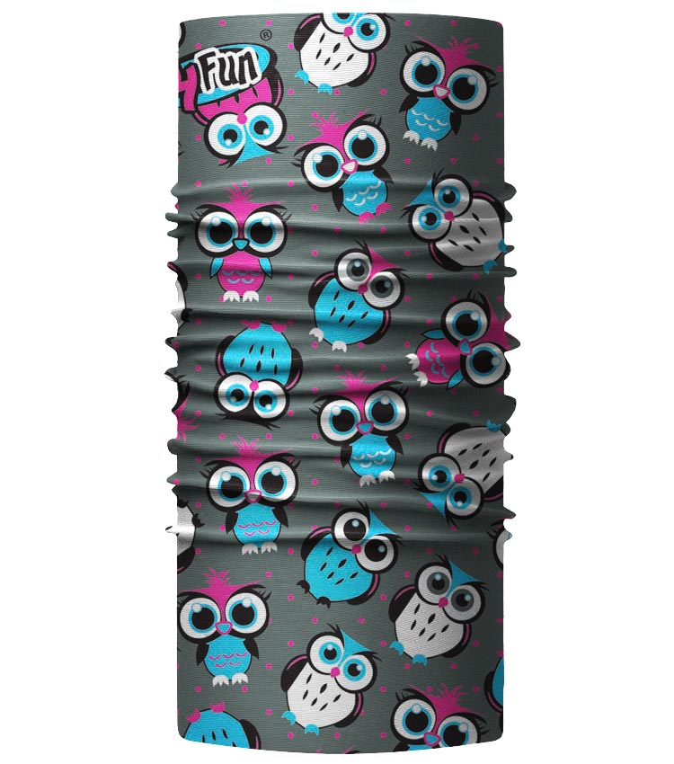 Бандана 4Fun Standard Kids owl grey