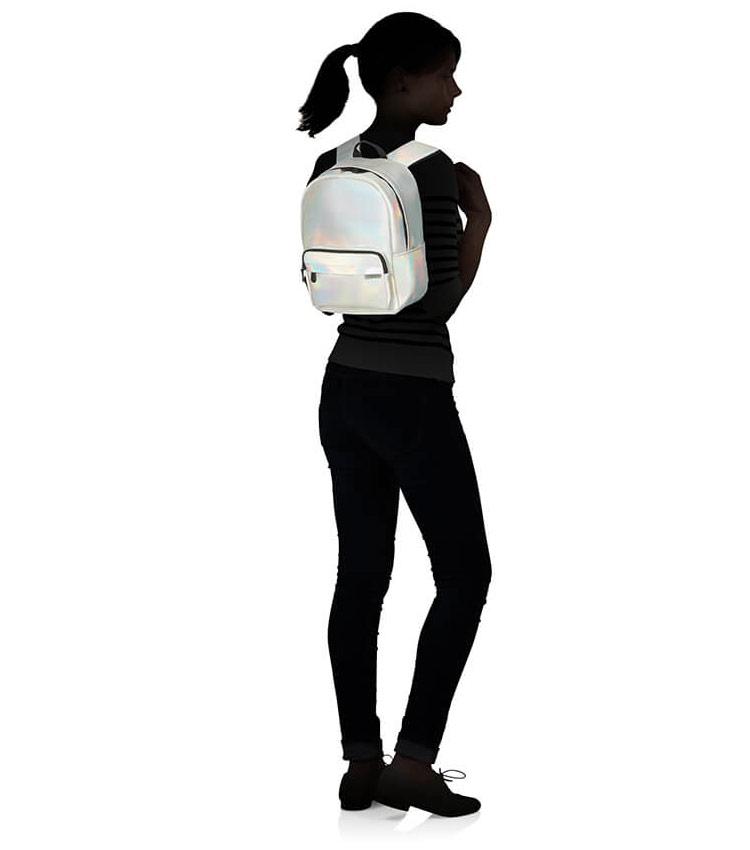 Рюкзак American Tourister Instago 54G*25008 silver hologram