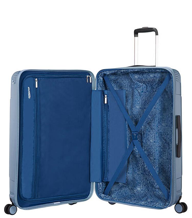 Средний чемодан American Tourister Modern Dream Spinner 55G*21002 (69 см) Grey Blue