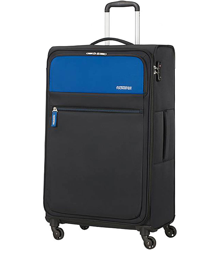 Большой чемодан American Tourister Sunrace 82G*11904 (80 см) - Blue/Black