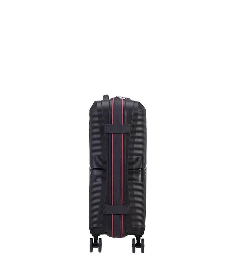 Малый чемодан American Tourister AIRCONIC 88G*39010 (55 см) ~ручная кладь~ Black/Paradise Pink