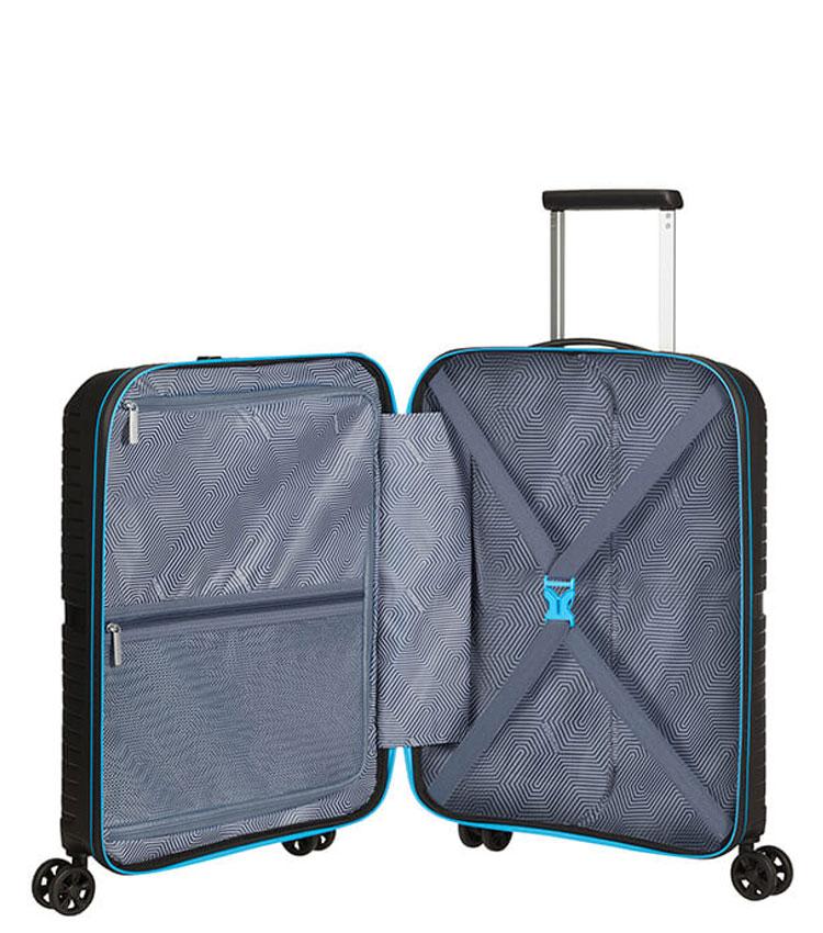 Малый чемодан American Tourister AIRCONIC 88G*49010 (55 см) ~ручная кладь~ Black/Sporty Blue