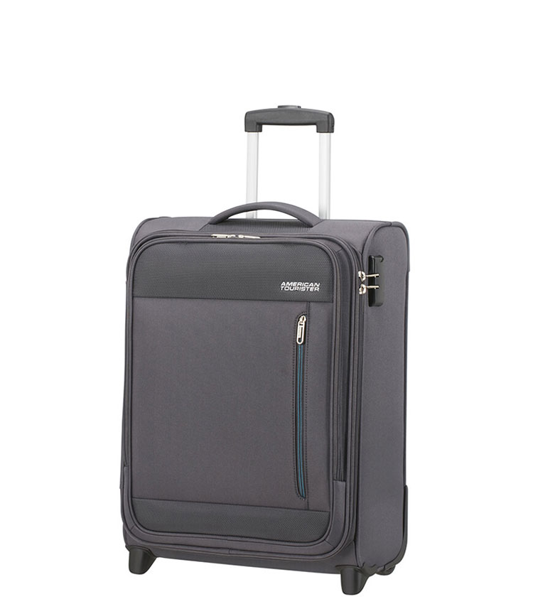 Малый чемодан American Tourister Heat Wave 95G*08001 (55 см) ~ручная кладь~ Charcoal Grey