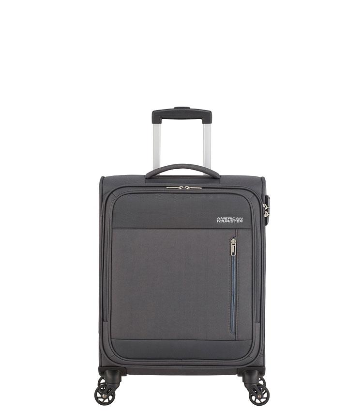 Малый чемодан American Tourister Heat Wave 95G*08002 (55 см) Charcoal grey ~ручная кладь~