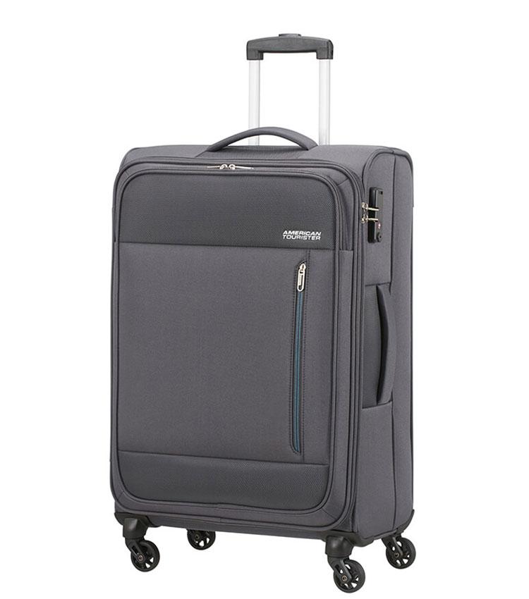Средний чемодан American Tourister Heat Wave 95G*08003 (68 см) - Charcoal Grey
