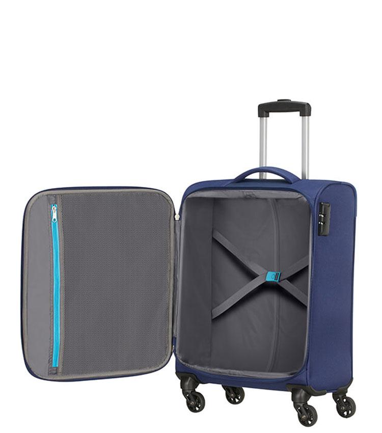 Малый чемодан American Tourister Heat Wave 95G*41002 (55 см) Combat Navy ~ручная кладь~