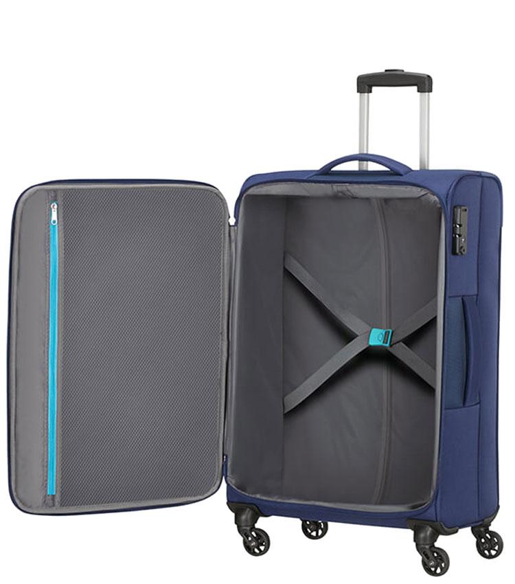 Средний чемодан American Tourister Heat Wave 95G*41003 (68 см) - Combat Navy