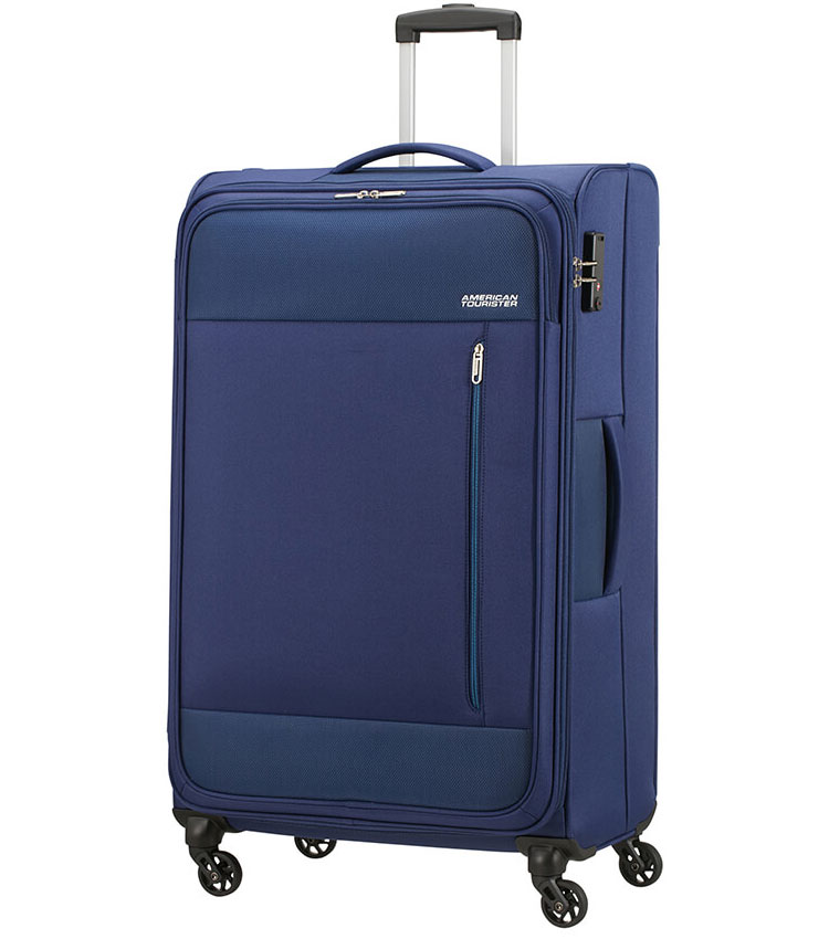 Большой чемодан American Tourister Heat Wave 95G*41004 (80 см) Combat Navy