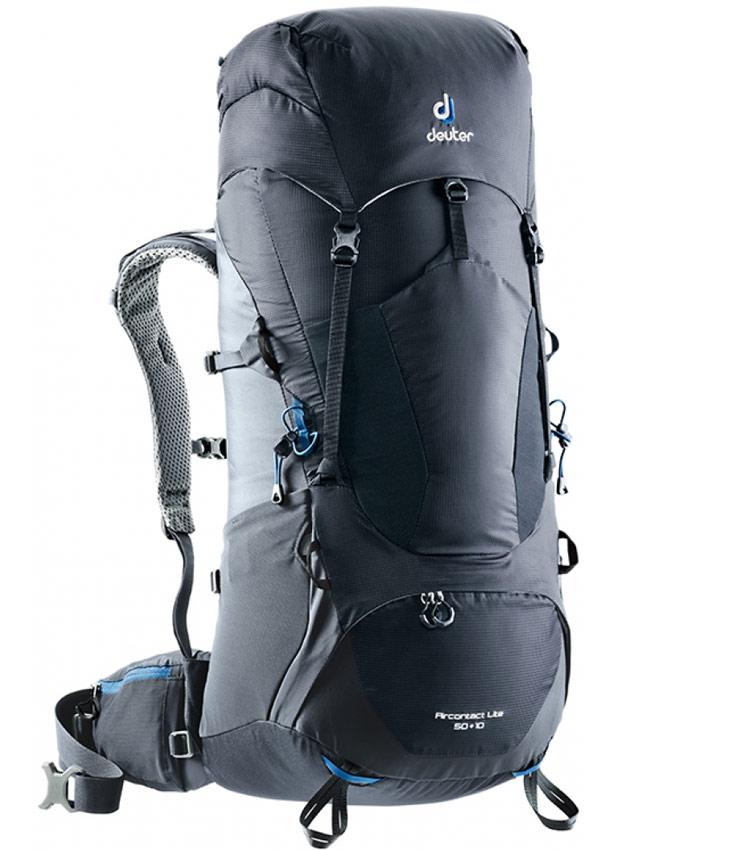 Туристический рюкзак Deuter Aircontact Lite 50+10L black-graphite