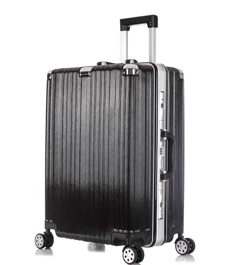 Средний чемодан спиннер Lcase Abu Dhabi black (68 см)