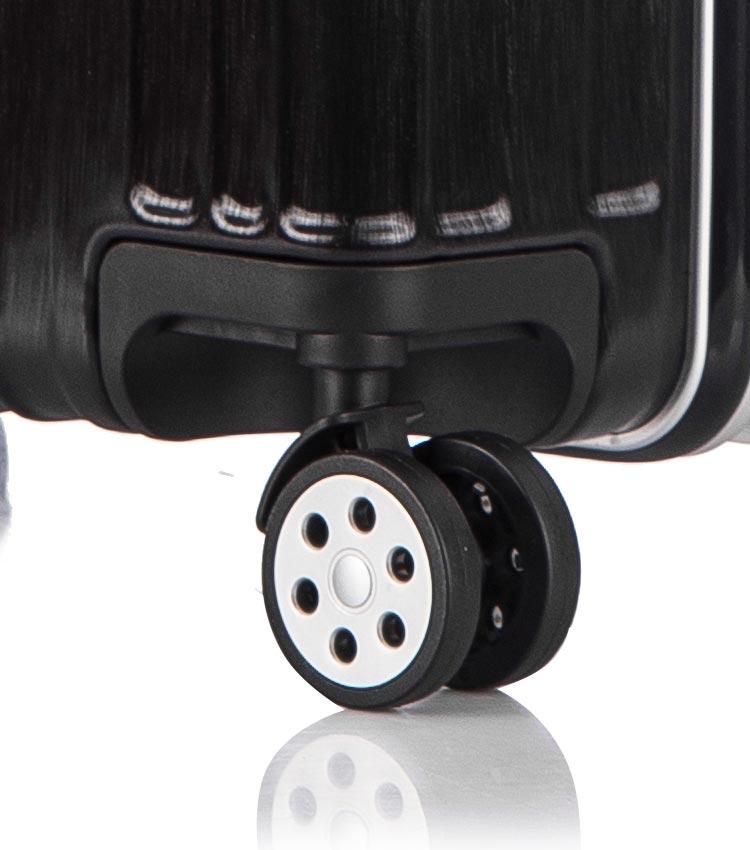 Большой чемодан спиннер Lcase Abu Dhabi black (78 см)