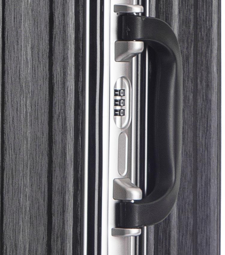 Малый чемодан спиннер Lcase Abu Dhabi black (58 см)