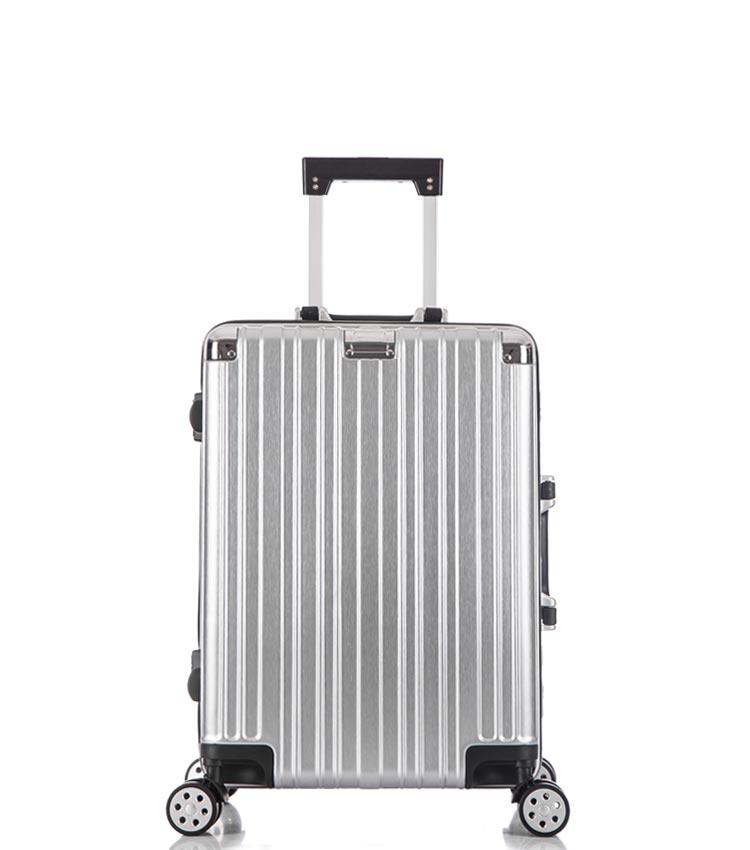 Малый чемодан спиннер Lcase Abu Dhabi silver (58 см)
