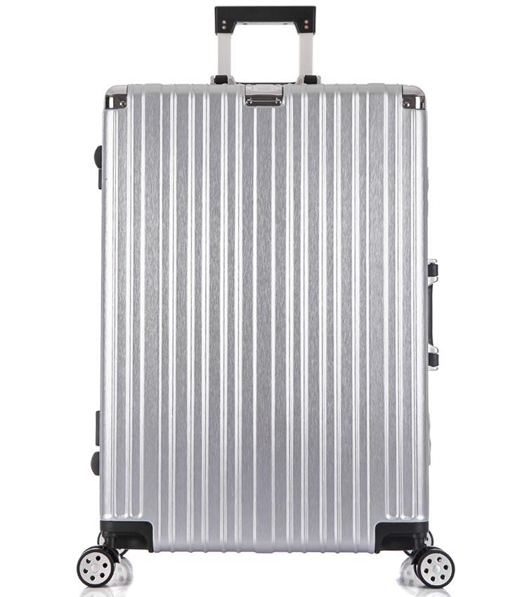 Большой чемодан спиннер Lcase Abu Dhabi silver (78 см)
