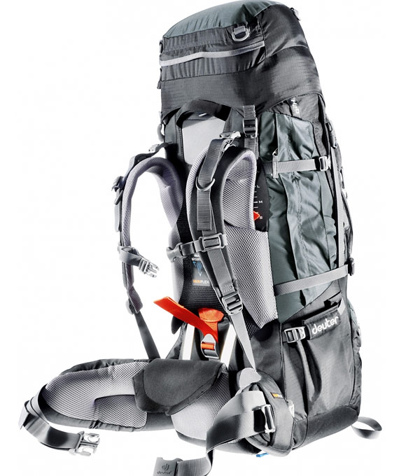 Рюкзак Deuter Aircontact PRO 60 +15 granite-black