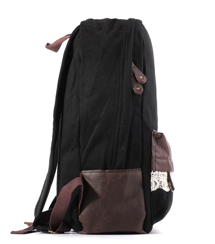 Женский рюкзак Bonjour Laces black