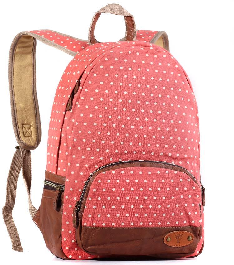 Женский рюкзак Bonjour Dots-md red