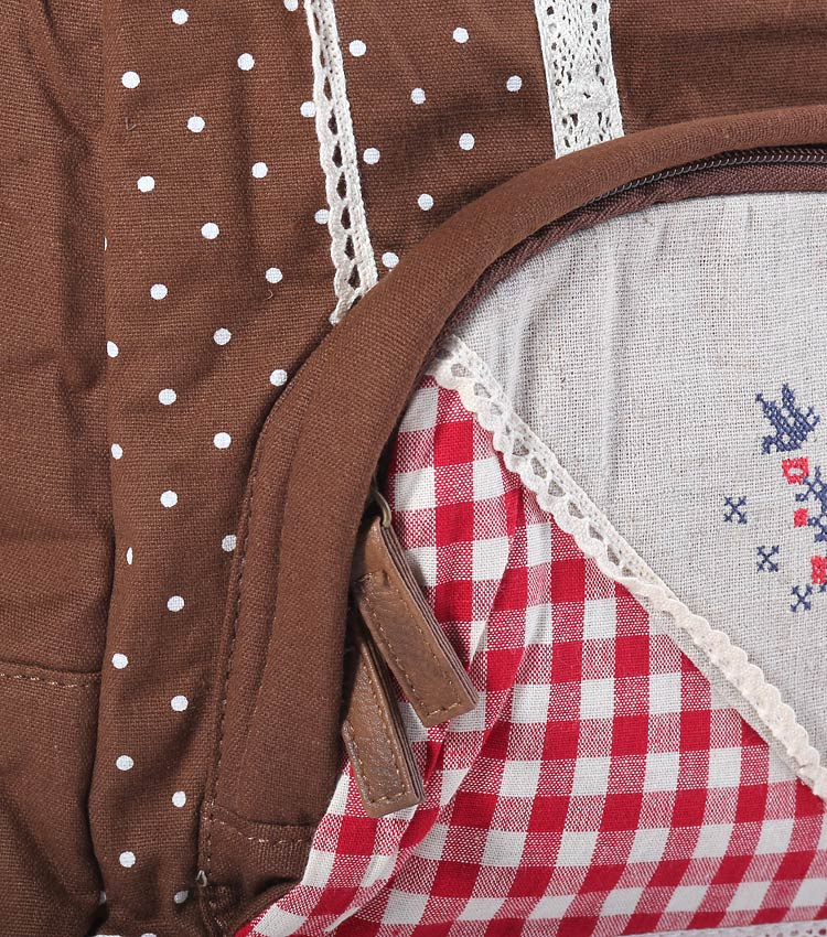 Женский рюкзак Bonjour ethnic brown-red