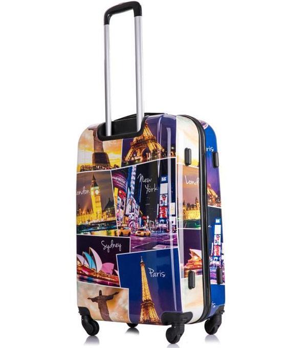 Большой чемодан L-case Building (72 см)