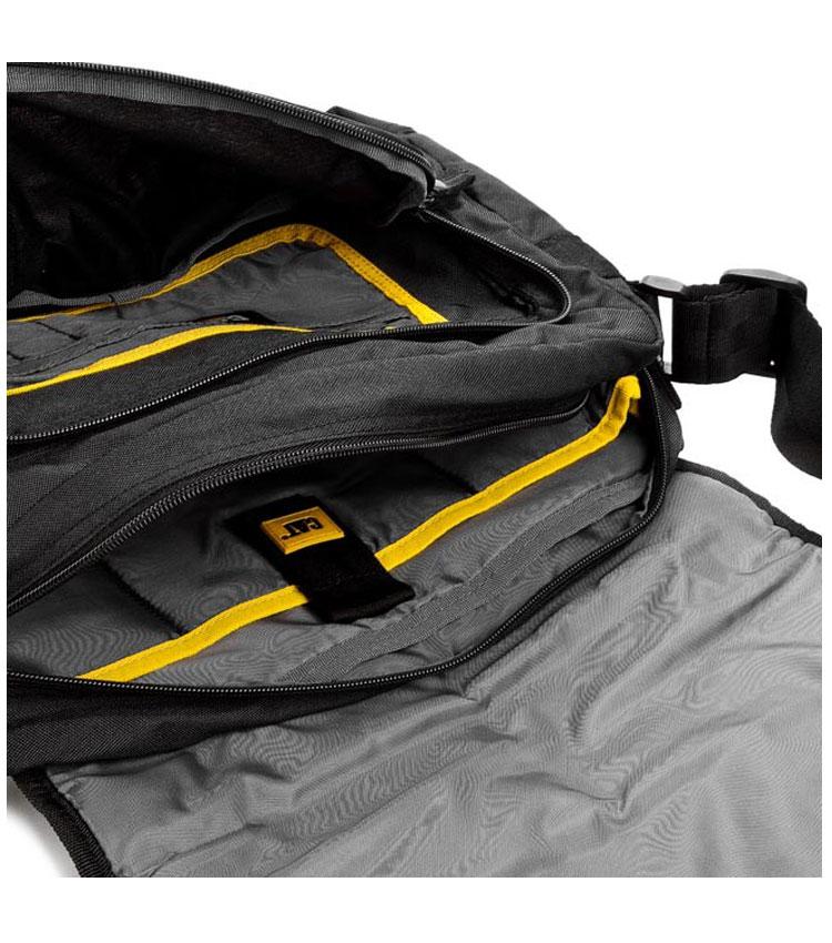 Сумка через плечо Caterpillar Curt black-yellow (82942)